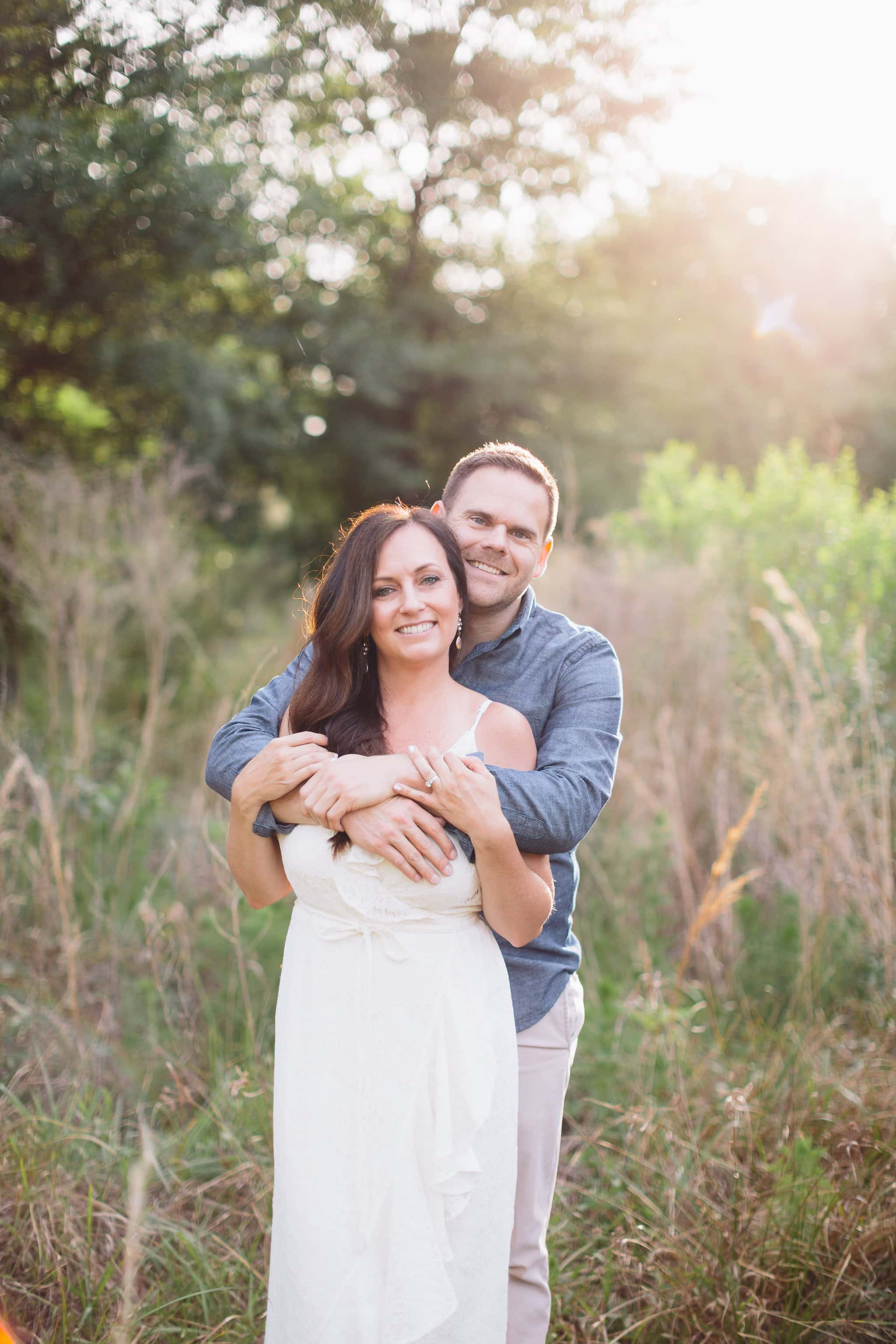 Outdoor Houston Engagement Shoot
