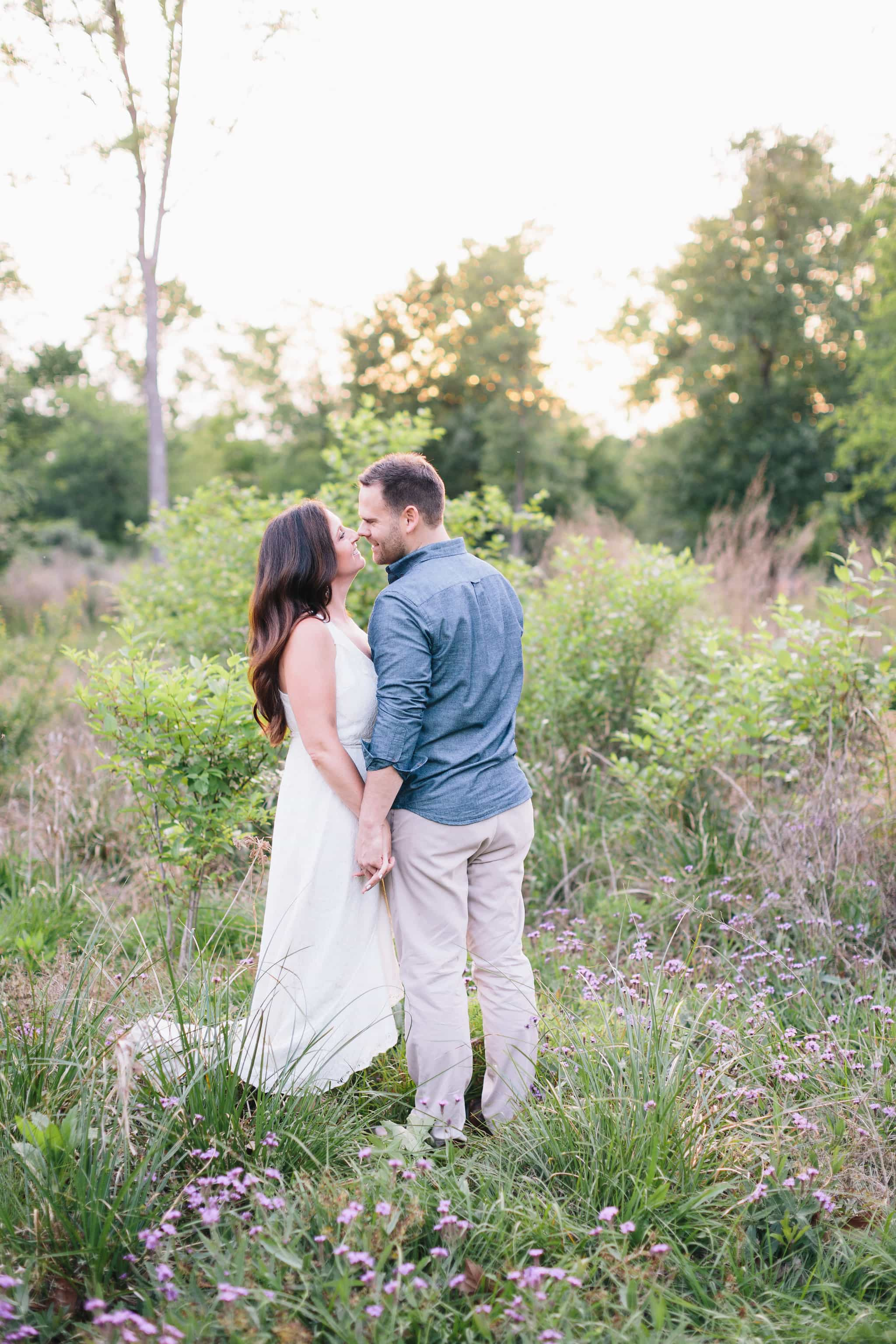 Rustic outdoor Houston Engagement shoot