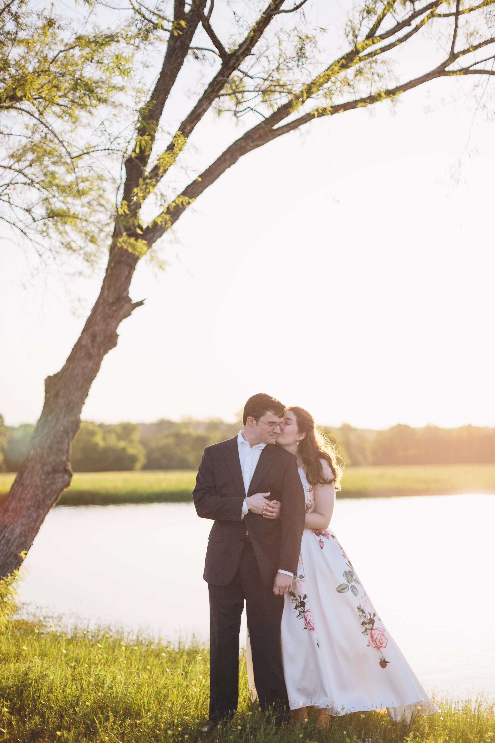 Houston sunrise outdoor engagement shoot