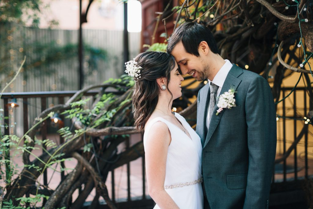 Couples Shot at Avant Garden Houston Wedding