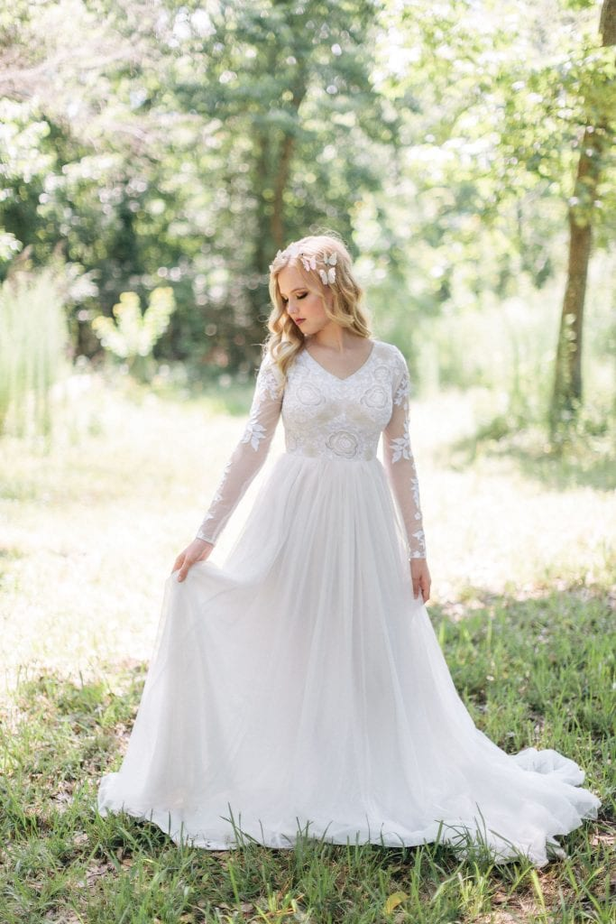 Houston Natural Light Airy Bridal Photo